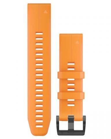 Garmin QuickFit 22 Solar Flare Orange Silicone Band (010-12740-04)