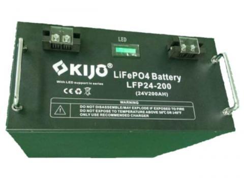 Kijo LiFePo4 24V 200Ah LED