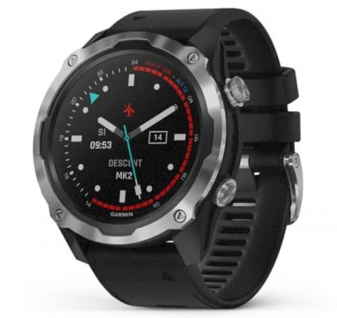 Garmin Descent Mk2 Stainless Steel with Black Band (010-02132-10)