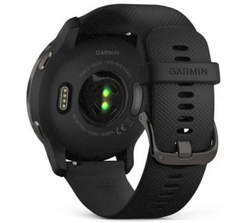 Garmin Venu 2 Slate Stainless Steel Bezel with Black Case and Silicone Band (010-02430-11)