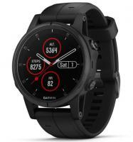 Garmin fenix 5S Plus Sapphire Black with Black Band (010-01987-03)