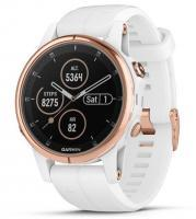Garmin fenix 5S Plus Sapphire Rose Goldtone with White Band (010-01987-07)