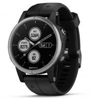 Garmin fenix 5S Plus Silver with Black Band (010-01987-21)