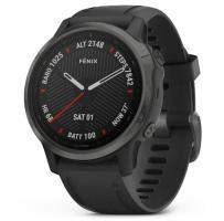 Garmin fenix 6S Pro Sapphire Carbon Gray DLC with Black Band (010-02159-25)